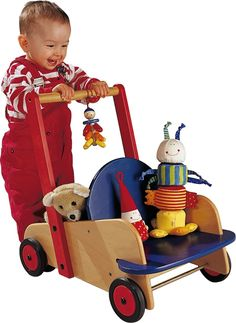 Walker Wagon - Solid Wood Push Toy | HABA USA