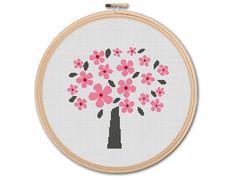 Spring+Tree+Counted+Cross+stitch+Pattern+PDF+by+KHANNAandILAN