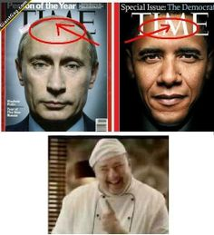 Time Magazine, Obama Vs Putin | Click the link to view full image and description : )