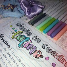 Bullet Journal Notebook, Bullet Journal School, Bullet Journal Ideas Pages, Bullet Journal Inspiration, Class Notes, School Notes, Hand Lettering Tutorial, Cute Notebooks, Muji