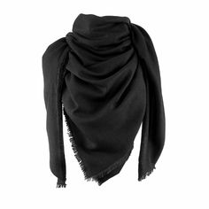 Milan scarf, 140x140cm, black - Scarves - Fashion