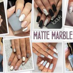La tendenza unghie 2017? La matte marble nails