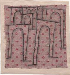 Paul Klee (1879-1940), Brückenbogen treten aus der Reihe (Arches of the Bridge Stepping Out of Line), 1937 (111). Charcoal on cloth, mounted on paper. 42.6cm H x 42cm W. (Guggenheim Museum, New York) (Image © 2016 Artists Rights Society (ARS), New York / VG Bild-Kunst, Bonn)