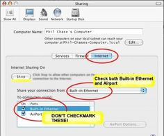 Play it safe, turn Internet Sharing option OFF on your laptop..
