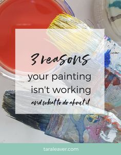 If your painting isn't working, you're not alone! Here are three common reasons why a painting doesn't seem to be finished or look quite right. Acrylic Painting For Beginners, Acrylic Painting Tutorials, Painting Techniques, Painting Tips, Watercolor Painting, Watercolors, Painting Lessons, Painting Courses, Art Courses