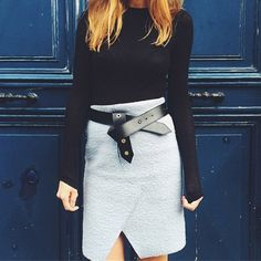 Black leather belt | ways to tie a belt | womens fashion | fall trends