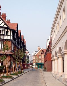 Thames Town, Shanghai, China. Like chona town in america there is an english town in china.
