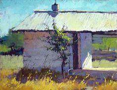 "Terri Ford - American (born Pastel artist ""Sonoma Shed"" Pastel Landscape, Abstract Landscape, Landscape Drawings, Landscape Paintings, Pastel Artwork, Paintings I Love, Pastel Paintings, Chalk Pastels, Oil Pastels"
