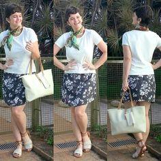 LEILA DINIZ *blog: 1º dia de 5 usando saias médias no #LookDoDia + um...