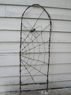 Barbed Wire Garden Trellis