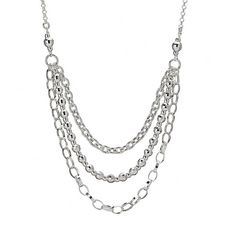 Silver Necklace with 3 Variety of Chains