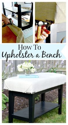 An easy-to-follow tutorial on how to upholster a bench. #diy www.chatfieldcourt.com