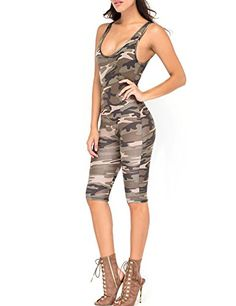 318aa50646cc One Piece Set Camouflage Jumpsuit Army Green Bandage Catsuit Sleeveless  Sexy Lady Slim Women Bodysuit 2016 Vestido De Festa