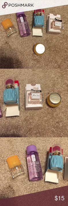 PERFUMES, MAKE UP REMOVER, LOCCITANE MOISTURIZER CLINIQUE make up remover, MIU MIU perfume, MISS DIOR perfume, LOCCITANE moisturizer, CLINIQUE happy mist Makeup