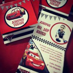 Invitación cars 1 año