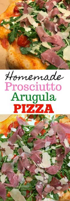 Prosciutto Arugula Pizza will quickly be a go-to favorite for pizza night. Pizza Recipes, Lunch Recipes, Easy Dinner Recipes, Easy Meals, Healthy Recipes, Simple Meals, Drink Recipes, Delicious Recipes, Dinner Ideas