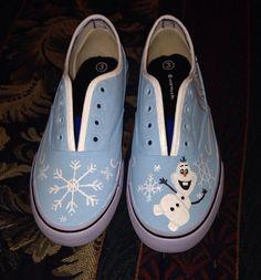 Frozen Disney Shoes by MyFandomStuff on Etsy, $40.00