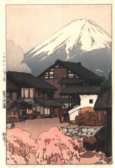 """Fujiyama from Okitsu"" series | 24 Japanese Woodblock Prints That Will Take Your Breath Away"