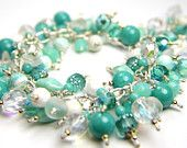 Treasury of beautiful aquas and soft teals!  Perfect Mother's Day items!