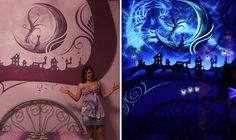 Artist Transforms Bedroom Mural into Magnificent Piece of Luminescent Art