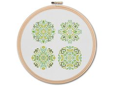Floral Mandalas  Counted Cross stitch Pattern PDF by KHANNAandILAN