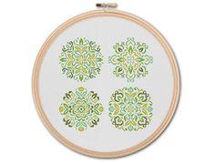 Floral Mandalas  Counted Cross stitch Pattern PDF by KHANNAandILAN