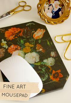 DIY Project: Fine Art Mousepad from Design Sponge