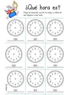 Printing Ideas Printables Collage Sheet Spanish For Travel Tips Referral: 2691591266 Spanish Worksheets, English Worksheets For Kids, Spanish Activities, Spanish Words, Spanish Lessons, Math Lessons, Spanish Classroom, Teaching Spanish, Math Clock
