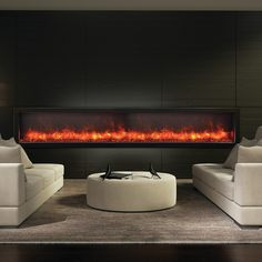 Amantii Panorama Series Built-in Wall Mount Electric Fireplace You'll Love | Wayfair