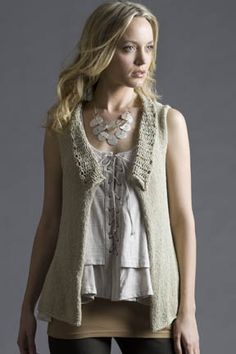 I'm not sure why this one is called mother's day vest, but I like it.    Mother's Day Vest in LILY