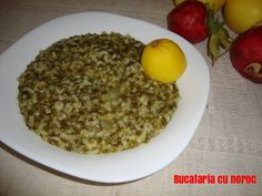 Orez cu spanac - Bucataria cu noroc Noroc, Oatmeal, Food And Drink, Cooking Recipes, Breakfast, The Oatmeal, Morning Coffee, Rolled Oats, Chef Recipes