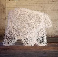 Polar Bear made of Zip Ties  http://www.qlore.com/polar-bear-made-of-zip-ties/