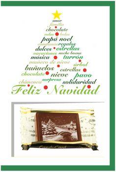 Ya empezando a pensar en los regalos de Navidad? Nuestras tarjetas con chocolate son una delicia!