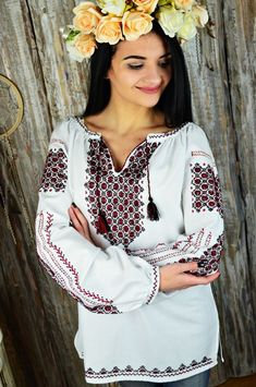 Embroidery is made by acrylic threads. the size You need as per our size chart. Embroidered Blouse, Ruffle Blouse, Ukraine, Size Chart, Embroidery, Traditional, Cotton, Handmade, Shirts