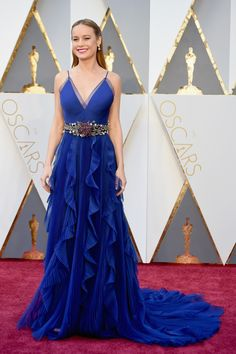 Oscars 2016: Brie Larson in a cobalt blue dress - click through to see the full gallery....