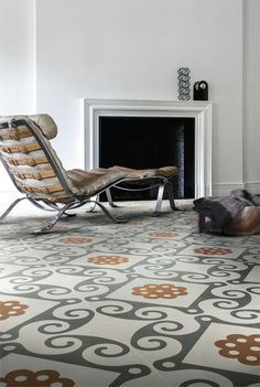 Ceramic #floor tiles FRAME by Ceramiche Refin #fireplace #interiors