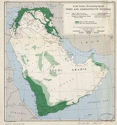 1947 demographic and administrative map of the Arab world east of Egypt #map #middleeast