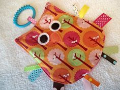 Crinkle Toy OWL Taggie  Sensory Toy by MBDesigns on Etsy