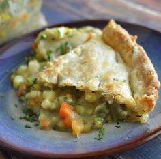 Vegan Veggie Pot Pie w/ Store Bought Crust! - Rich Bitch Cooking Blog