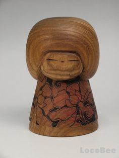 """This is Japanese Vintage Sosaku Kokeshi doll design by Kuribayashi Issetsu. """