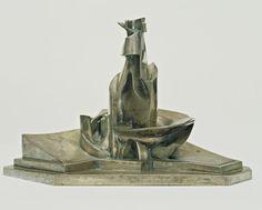 Umberto Boccioni / Development of a Bottle in Space / 1912 (cast 1931) / silvered bronze / MoMa