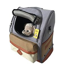 Mangostyle Comfortable Dog Cat Pet Carrier Backpack Travel Carrier Bag Front for Small dogs Carrier Bike Hiking Outdoor (Grey)