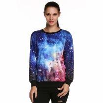ACEVOG Stylish Women Fashion Casual Loose Print Pullover Sweatshirt Hoodie