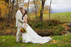 A stolen moment among the Vermont Fall Foliage Photograph by Sarah Cocina Photography http://www.storyboardwedding.com/moody-vermont-fall-foliage-wedding-at-the-gorgeous-skinner-barn/