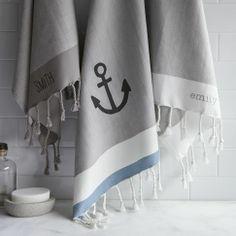 Herringbone Stripe Hand Towel   west elm anchor