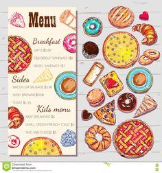 Biscuit Sandwich, Bagel Sandwich, Class Projects, Projects To Try, Menu Template, Templates, Grits Breakfast, Kids Vector, Kids Menu
