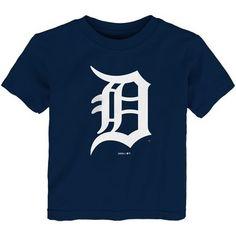 Toddler Navy Detroit Tigers Team Primary Logo T-Shirt, Toddler Boy's, Size: Baseball Pitching, Baseball Training, Tiger Team, Mlb Merchandise, Detroit Tigers, Mens Tops, Shirts, Originals, Navy