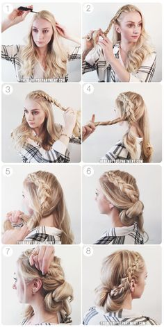 braid wrap chignon