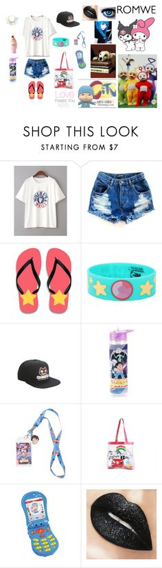 """My Aesthetic Style Outfit"" by teanster123 ❤ liked on Polyvore featuring Cartoon Network, Hot Topic, Bandai and Dylan's Candy Bar"