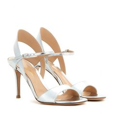 mytheresa.com - Metallic leather sandals - High-heel - Sandals - Shoes - Gianvito Rossi - Luxury Fashion for Women / Designer clothing, shoes, bags